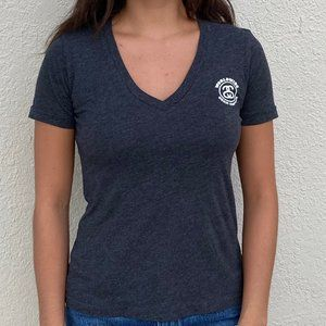 Stussy Gray Femme V-neck T Shirt